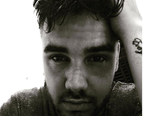 Liam Payne shows off his bed head hair on Instagra