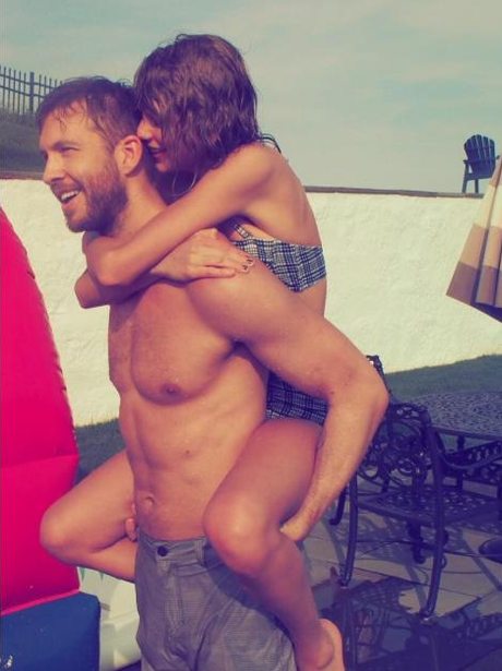Taylor Swift and boyfriend Calvin Harris celebrate