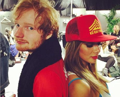 Nicole Scherzinger with Ed Sheeran on Instagram