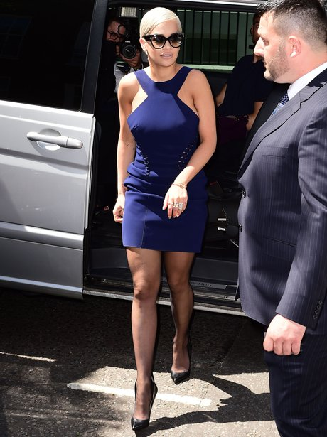Rita Ora arrives at the Kosovan Embassy, London