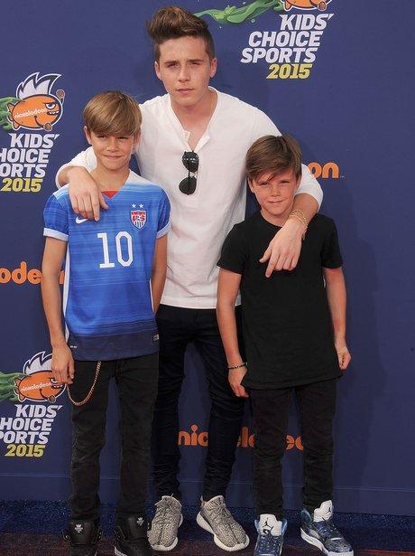 Romeo, Brooklyn and Cruz Beckham Kids' Choice Spor