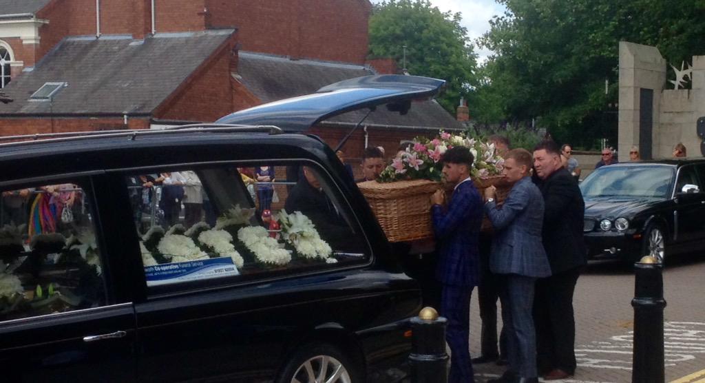 Sue Davey's Funeral Hearse