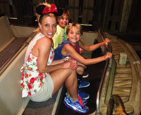 Britney Spears and kids at Disney Land