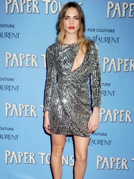 Cara Delevingne Sequin Dress Paper Towns Premiere