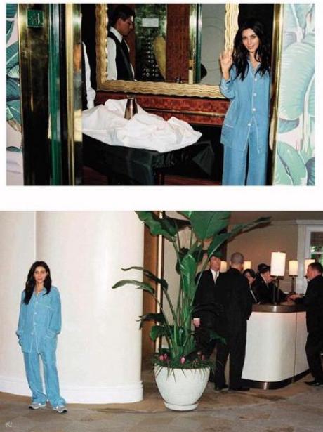 Kim Kardashian pyjamas outtakes