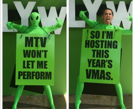 Miley Cyrus MTV VMA announcement Instagram