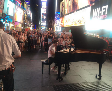 Nathan Sykes Performs In Times Square