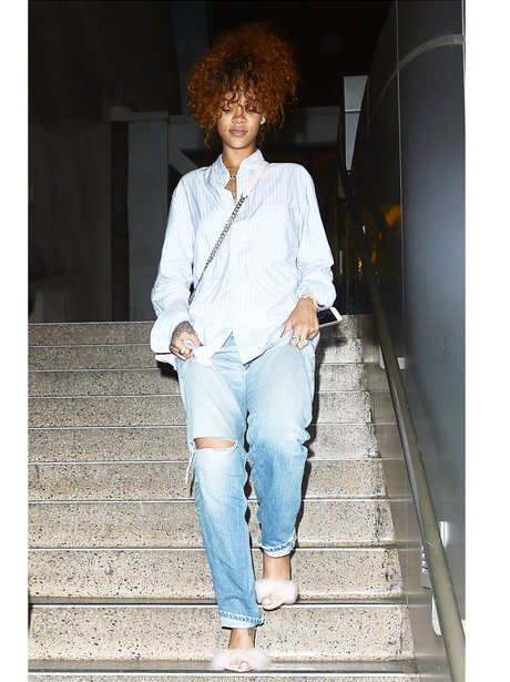 Rihanna Fluffy Shoes