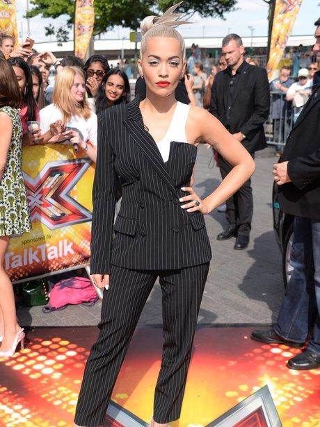 Rita Ora Suit X Factor 2014