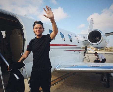Avicii on a private jet