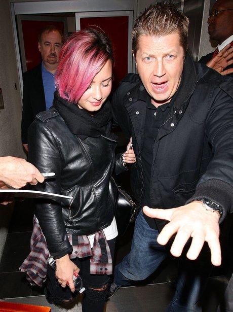 Demi Lovato and Bodyguard