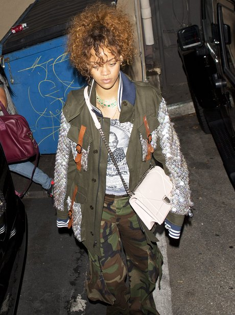 Rihanna Dressed Down wearing Camouflage