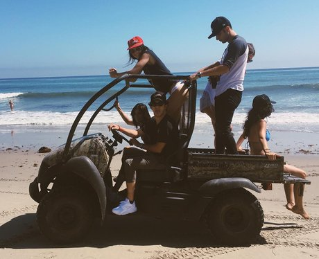 Kendall Jenner on a beach buggy in LA