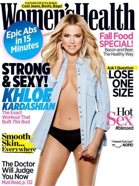 Khloe Kardashian Women's Health 2015