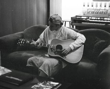 Justin Bieber playing guitar