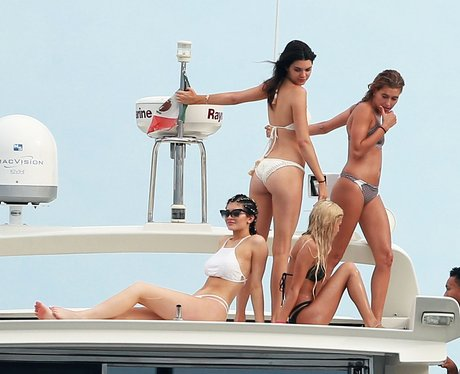 Kendall, Kylie Jenner and Hayley Baldwin