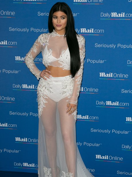 Kylie Jenner See Through Dress