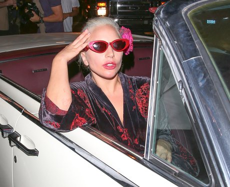 Lady Gaga in a car