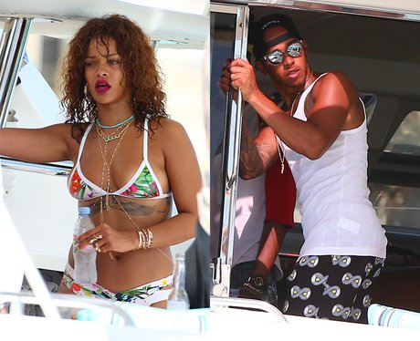 Rihanna and Lewis Hamilton Barbados