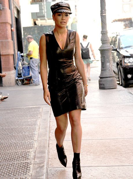 Rita Ora in leather