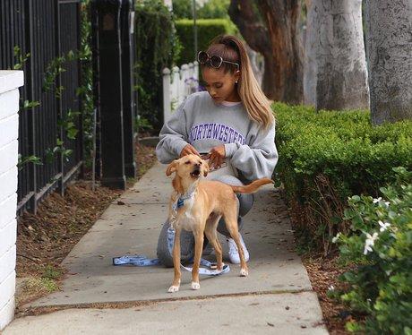 Ariana Grande and her dog