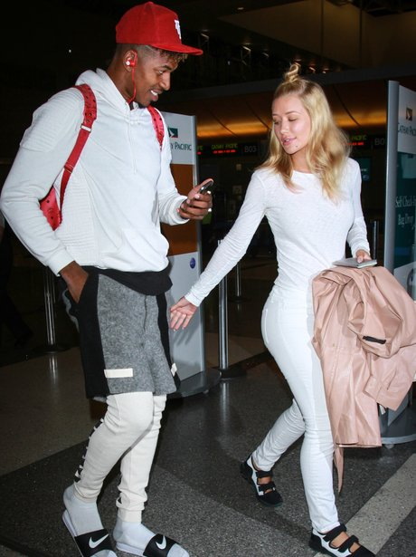 Iggy Azalea and Nick Young seen at LAX airport in