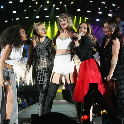 Taylor Swift and Little Mix on stage