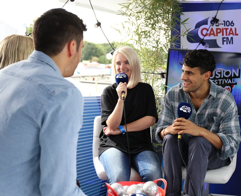 Clean Bandit backstage at Fusion Festival