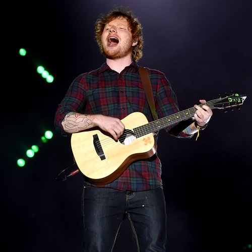 Ed Sheeran on stage at Fusion Festival 2015