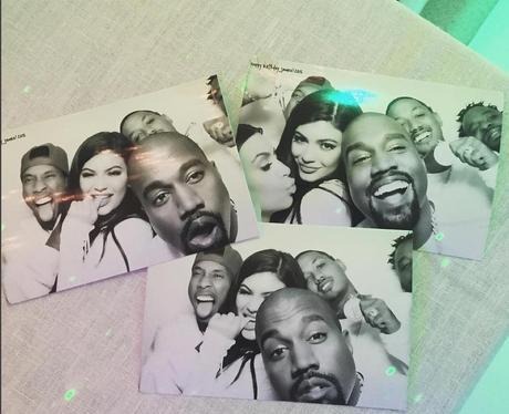 Kim Kardashian, Kanye West, Tyger, Kylie Polaroid
