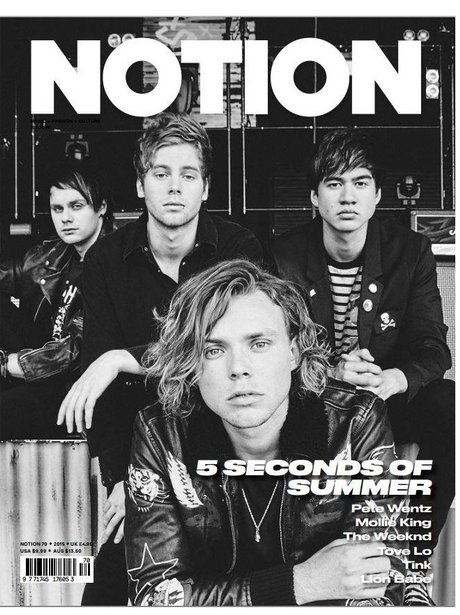 5 Seconds Of Summer Notion Magazine 2015