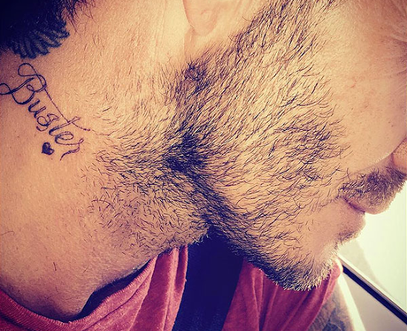 David Beckham's neck tattoo