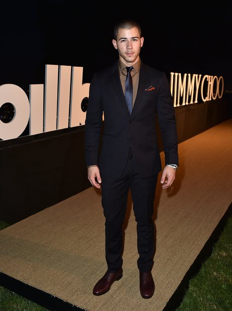 Nick Jonas attends Billboard & Jimmy Choo's Men of