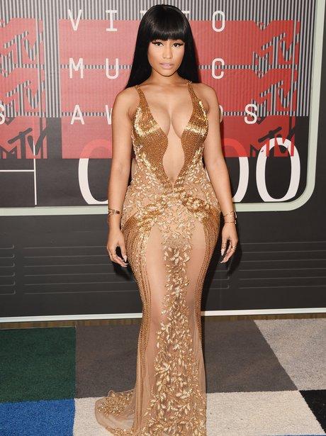 Nicki Minaj arrives at the 2015 MTV Video Music Aw