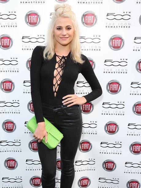 Pixie Lott wearing leather