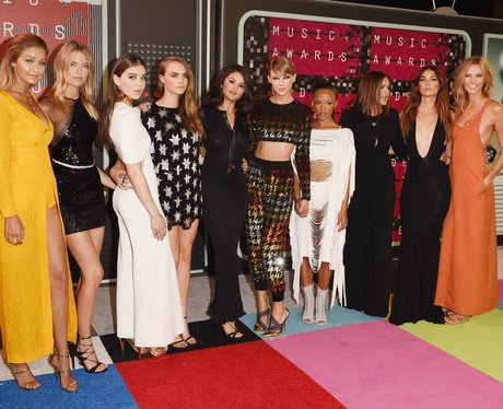Taylor Swift's Bad Blood squad arrive at the 2015