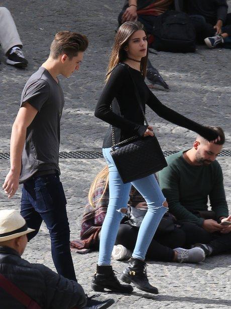 Brooklyn Beckham and Female Friend in Paris