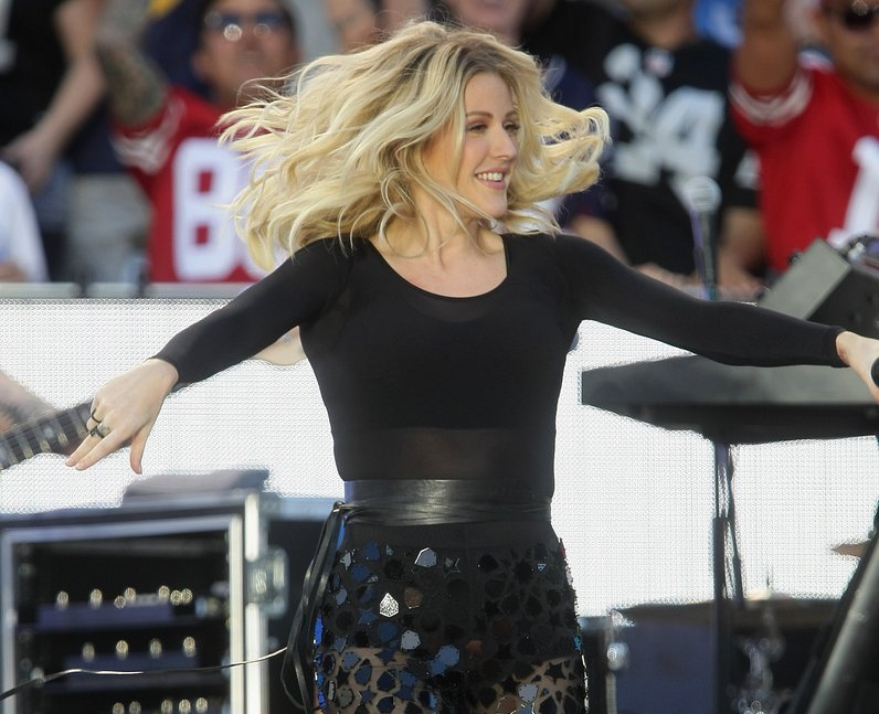 Ellie Goulding performs during the '2015 NFL Kicko