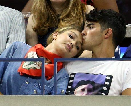 Gigi Hadid and Joe Jonas date at the 2015 US Open