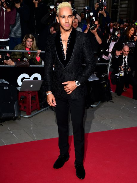 lewis hamilton red carpet gq awards 2015