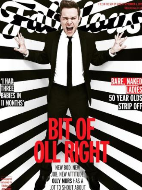 Olly Murs Fabulous Magazine Cover