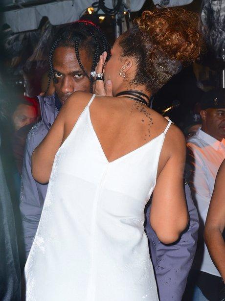 Rihanna and Travis Scott