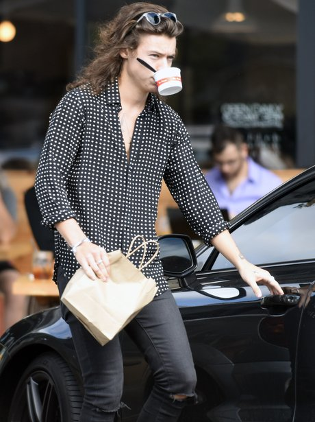Harry Styles with an ice cream