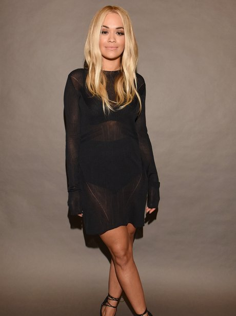 Rita Ora New York Fashion Week 2015 All Black Outf