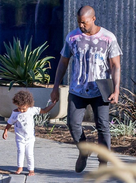 Kanye West and North Curly Hair