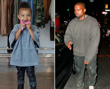 Kanye West and North Same Outfit