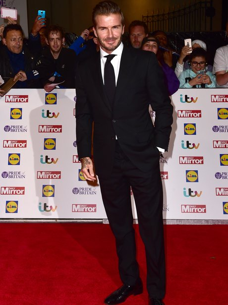 David Beckham Pride Of Britain Awards 2015