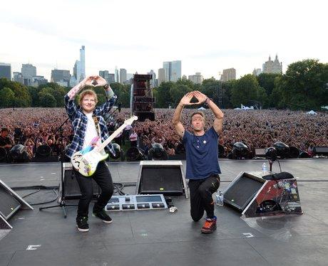 Ed Sheeran and Chris Martin Global Citizen Fesival