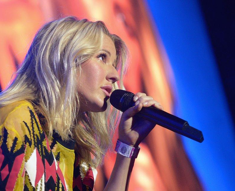 Ellie Goulding performs on stage