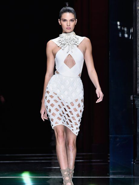 Kendall Jenner on the catwalk at fashion week